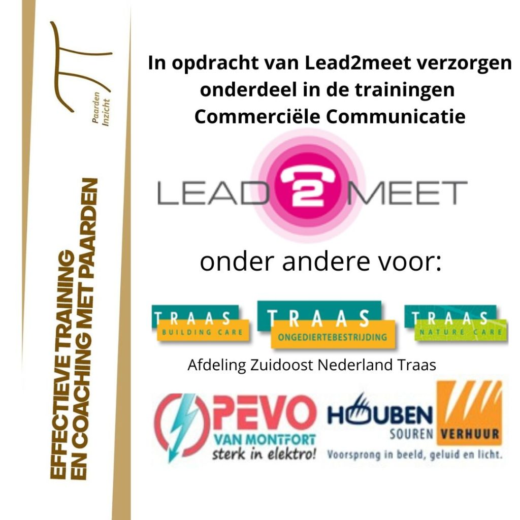 Succesvolle trainingen Commerciële Communicatie door Lead2meet i.s.m. PaardenInzicht.